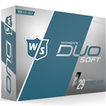 Wilson Staff Duo Soft Matte Ladies Golf Balls - 1 Dozen