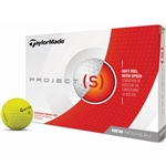TaylorMade Project (s) Matte Yellow Golf Balls - 1 Dozen