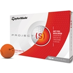 TaylorMade Project (s) Matte Orange Golf Balls - 1 Dozen