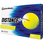 TaylorMade TM Distance+ Yellow Golf Balls - 1 Dozen