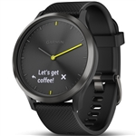Garmin Vivomove HR Hybrid Smartwatch - Sport Black