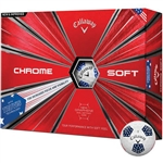 Callaway Chrome Soft 18 Truvis Stars N Stripes Golf Balls - 1 Dozen