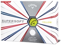 Callaway Supersoft 19 Yellow Golf Balls - 1 Dozen