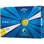 Callaway ERC Soft Triple Track 19 Yellow Golf Balls - 1 Dozen