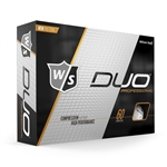 Wilson Staff DUO Professional White Golf Balls - 1 Dozen