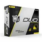 Wilson Staff DUO Professional Yellow Matte Golf Balls - 1 Dozen