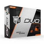 Wilson Staff DUO Professional Orange Matte Golf Balls - 1 Dozen