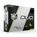 Wilson Staff DUO Professional Green Matte Golf Balls - 1 Dozen