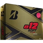 Bridgestone e12 Soft Matte Red Golf Balls - 1 Dozen