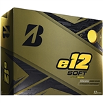 Bridgestone e12 Soft Matte Yellow Golf Balls - 1 Dozen