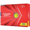 Callaway Chrome Soft Triple Track 2020 Golf Balls - Yellow