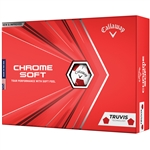 Callaway Chrome Soft Truvis 2020 Golf Balls - White/Red