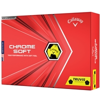 Callaway Chrome Soft Truvis 2020 Golf Balls - Yellow/Black