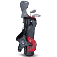 US Kids UL39-s 3 Club Carry Set - Grey/Red Bag