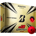 Bridgestone e12 Contact Matte Red Golf Balls - 1 Dozen