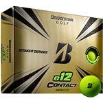 Bridgestone e12 Contact Matte Green Golf Balls - 1 Dozen