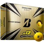 Bridgestone e12 Contact Matte Yellow Golf Balls - 1 Dozen