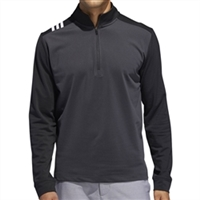 Adidas 3-Stripes Core 1/4 Zip Men's Sweatshirt - Carbon/Black