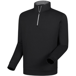 Footjoy Men's Half-Zip Pullover - Black
