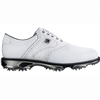 Footjoy Dryjoys Tour Men's Golf Shoes - White/White Croc