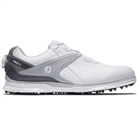 FootJoy Pro SL BOA Men's Golf Shoes - White/Grey