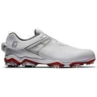 FootJoy Tour X BOA Men's Golf Shoes - White/Grey/Red