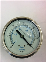 Vacuum Gauge Stainless Steel SKU 25.911-30HG