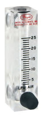 Chemical Flow Meter W Adjustable Knob
