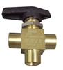 3 Way Ball Valve 1/8FPT (Chemical Select) SKU 8.619-500.0