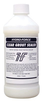 CLEAR GROUT SEALER 14 OZ. NOT FREEZE THAW STABLE SKU CH08A
