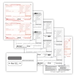 W-2 Traditional Preprinted 50 Sheet 4-pt Set with Envelopes (Self-Seal)