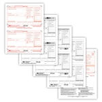 W-2 Traditional Preprinted 50 Sheet 6-pt Set