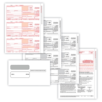 1099-MISC Preprinted 50 Sheet Set 3-pt with Envelopes (A/B/C)