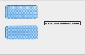 1099 2-up Double Window Envelope