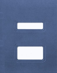 Double Window Tax Return Folder - Side Staple Loose Pocket (Midnight Blue)