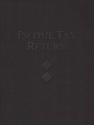 Embossed Income Tax Return Folder With Expanding Pocket