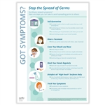 Got Symptoms? Stop the Spread of Germs Poster