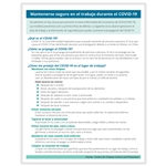 Corona Virus (COVID-19), Prevention and Stress Management 25 Pack Handout (Spanish)