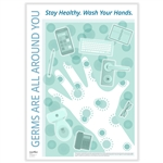 """Germs are All Around You"" Poster"