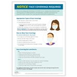 """Face Coverings Required"" Notice Poster"