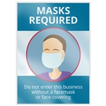 Masks Required Window Cling
