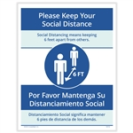 Keep your Social Distance Posting Notice - Bilingual