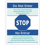 Social Distancing - Do Not Enter Posting Notice - Bilingual