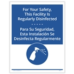 Facility Regularly Disinfected Posting Notice - Bilingual