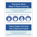 Everyone Must Wear a Face Covering Posting Notice - Bilingual