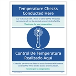Temperature Screenings Posting Notice - Bilingual