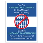 Temporary Limited Occupancy Posting Notice - Bilingual