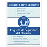 Elevator Safety Etiquette Posting Notice - Bilingual