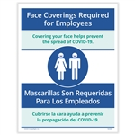 Face Coverings Required for Employees Posting Notice - Bilingual