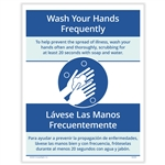 Wash Your Hands Frequently Posting Notice - Bilingual